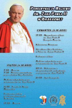 Czytaj więcej: Peregrynacja relikwii św. Jana Pawła II
